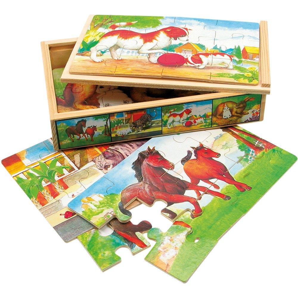 Bino Puzzle v krabičce - zvířátka