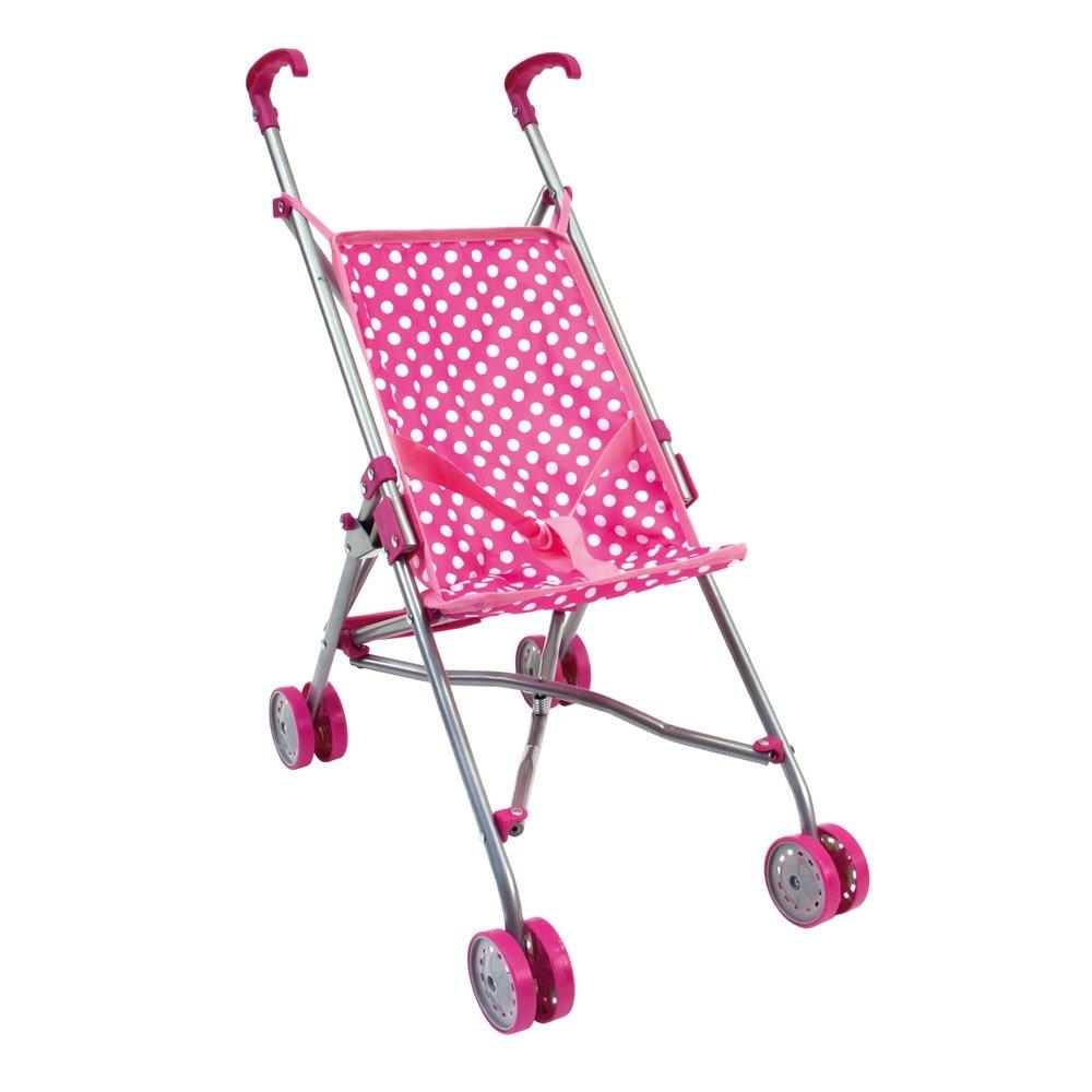 Bino Kočárek pro panenky golfový růžový