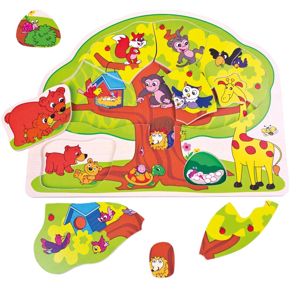 Bino Puzzle veselá zvířátka