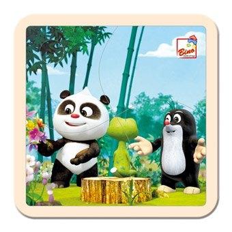Bino Puzzle Krtek a Panda v lese, 4 dílky