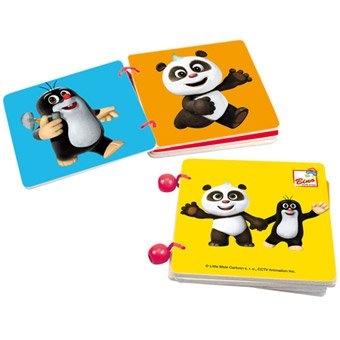 Bino Krtek a Panda, dřevěná knížka - barvy