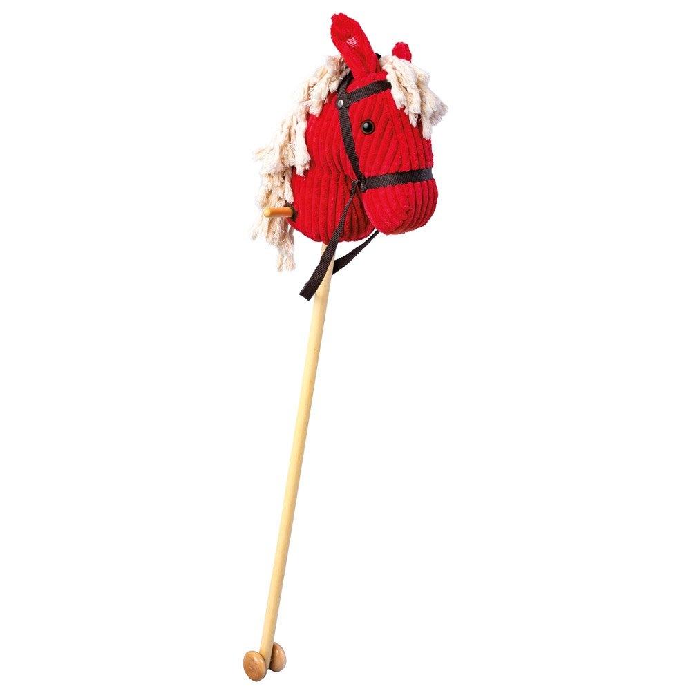 Bino Koňská hlava na tyči, červený manšestr
